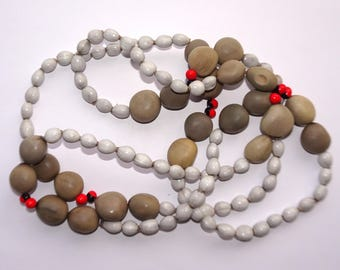 Chocho, Job's Tears Strung Necklace, Organic Beads, EcoBeadsTagua