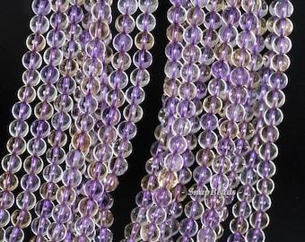 6MM Sassy Ametrine Gemstone Grade AA Purple Yellow Round 6MM Loose Beads 4.5 inch 20 BEADS (90106952-123)
