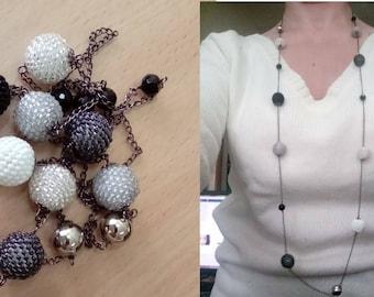 Shades of grey necklace