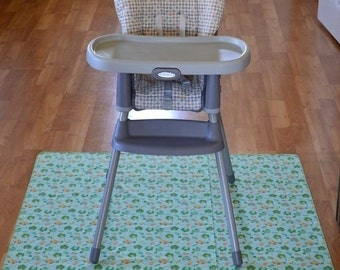 Splat Mat / Art  Mat - Baby High Chair Washable Protection