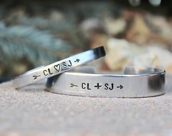 Couples Bracelet Set His Hers, Initials Couple Bracelet Set, Anniversary gift, Couple Bracelets, Jewelry for couples, Customize Bracelets