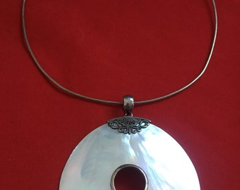 Classic Sterling Silver & MOP Shell Necklace