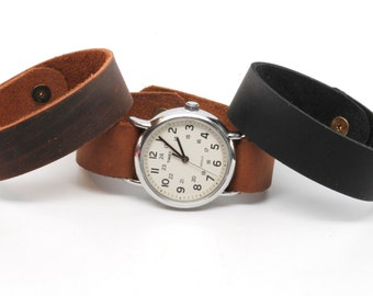 Timex Weekender Leather Watch Strap - Brown, Chocolate, or Black