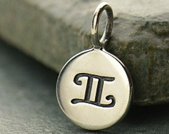 GEMINI 925 Sterling Silver Zodiac Charm - Add A Chain Option Avaliable - Insurance Included