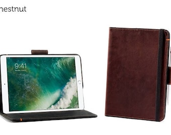 SECONDS - Oxford Leather iPad Pro 10.5 Case - Chestnut | Leather iPad Pro Case (Magnet does not work)