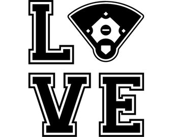 Love Baseball #25 Player Tournament Ball Bat League Equipment School Team Game Field Sport Logo.SVG .EPS .PNG Vector Cricut Cut Cutting File