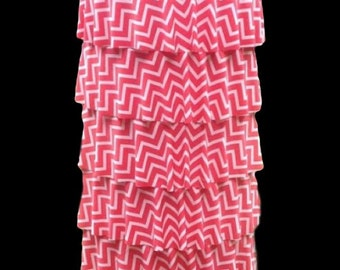 "Made to order.  The ""Lainey"" Ruffle Skirt in Chevron"