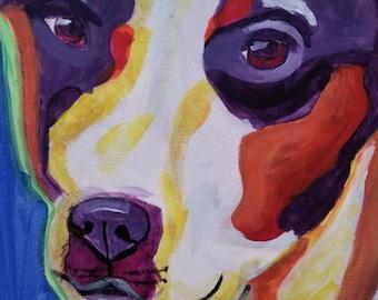 Original Cute  Puppy 16×20 canvas