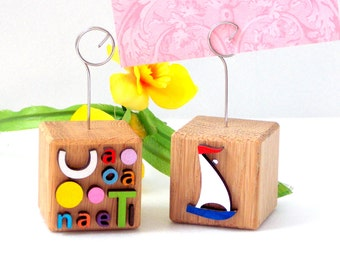 Paper holders, Card holders, Table holders stands, Card clips, Paper clips, Wooden paper holders, Table decor, unique paper holders, décor
