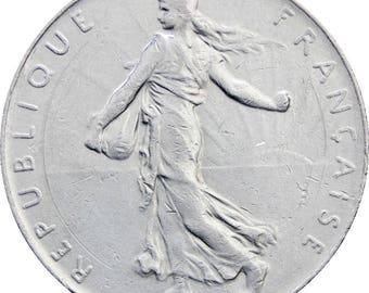 1991 One Franc France Coin