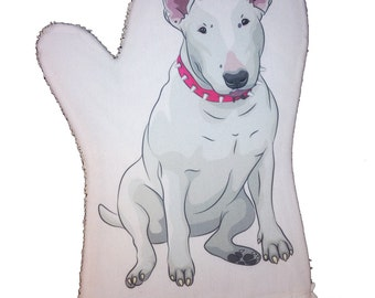English Bull Terrier Oven Mitt by Ameiva Apparel