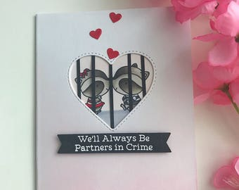 Valentine Day Card, Valentine's Day Card, Valentine Card, Love Card, MFT Stamps Raving Racoons