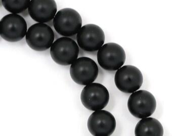 Black Onyx Beads - Matte Finish - 6mm Round