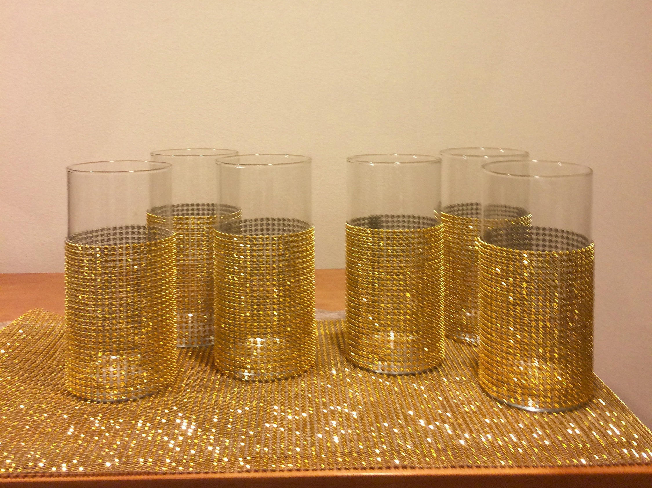 7 cylinder vases with gold bling 7 14 inches tall 3 in zoom floridaeventfo Images