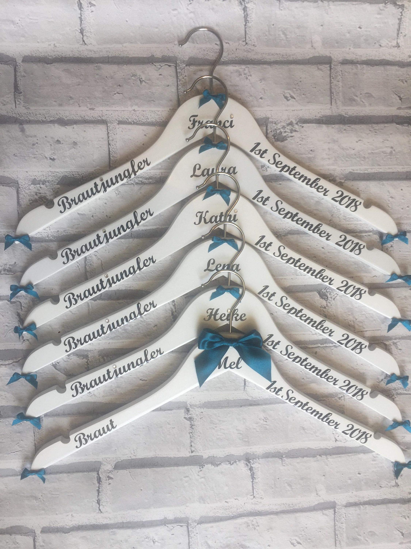 Hochzeit Kleiderbügel personalisiert Braut Aufhänger