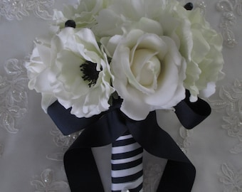 Navy Nautical Yacht Ship Boat Bridal Wedding Summertime Bridesmaids Bouquet