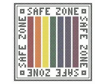 Safe Zone - Set of Four Cross Stitch Charts | LGBTQ