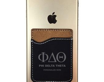 Phi Delta Theta Leatherette Phone Wallet