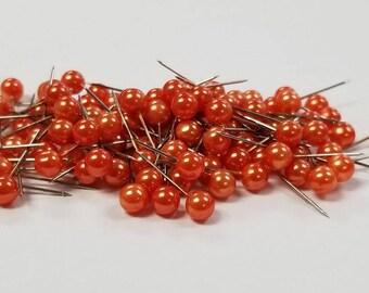 """Corsage / Boutonniere Pins Orange Pixie 3/4"""" 100pcs"""