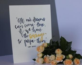 Walt Disney Quote [Digital Download]