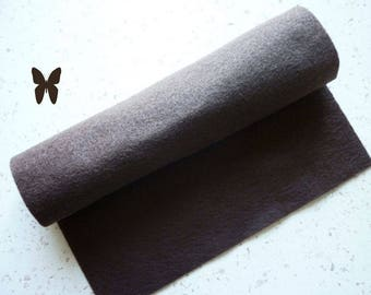 Brown felt 30 x 22 cm, washable, eco-friendly, recycled fleece, soft - leaf