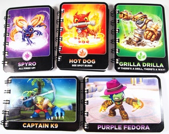15 Upcycled Skylanders cards - Skylanders Party Favors - Skylanders Favors - Skylanders Birthday Party - Recycled Skylanders Cards -