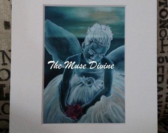 "Art Print Giclee of Blue Angel 11"" x 14"" Ready to Frame"