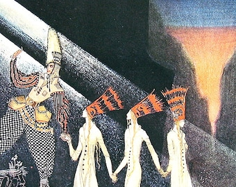 Kay Nielsen Fairy Tale Illustration - The Three Princesses in the Blue Mountain 2 - 1975