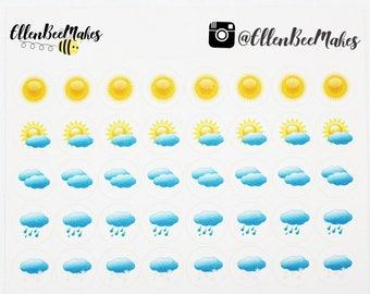 Mini Weather Icon Stickers
