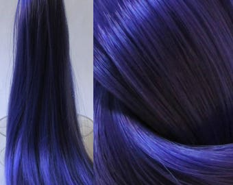 INTENSE PURPLE Nylon Doll Hair for Custom OOAK/Rerooting