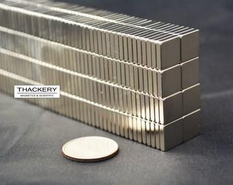 "100 250 pcs 1//4/"" X 1//8/"" x 1//16 rectangle MAGNETS N48 Neodymium rare Earth 49"