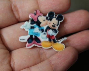 Mickey and Minnie Inspired Brooches
