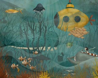 Under the surface -  Art print (3 different sizes)