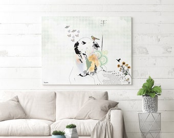 Animal Wall Art, Dog Print, Wall Art Print, Animal Painting, Animal Print, Dog Art, Animal Artwork, Dog Painting, Dog Whimsical Art print