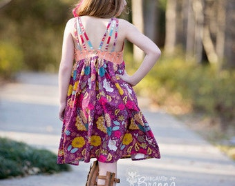 Lexi's Strappy Back Dress & Maxi. PDF sewing pattern for toddler girl sizes 2t - 12