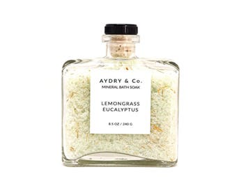 Lemongrass Eucalyptus   Mineral Bath Soak