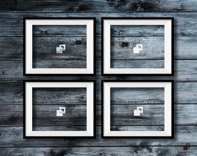 BLACK FRAME MOCKUP, 8x10, Set of 4, Empty Mockup Frame, Black Frame Mock-Up, Digital Frame Mockup for download, Frame Mockup, Download File