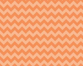 Riley Blake Small Chevron Orange Tone on Tone 100% Cotton Half Yard Increments