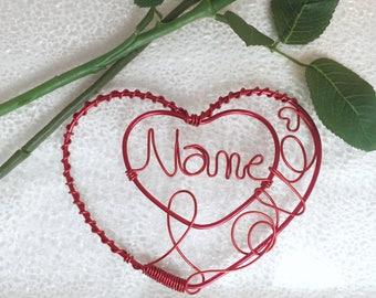 Wire Art Valentine (customizable)