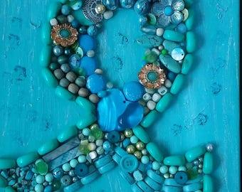 Ovarian Cancer Art, Cancer Awareness Art, Ovarian Cancer Awareness, Teal Awareness