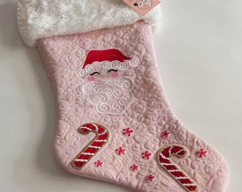 Kawaii Santa with Cookies and Peppermints Christmas Stocking