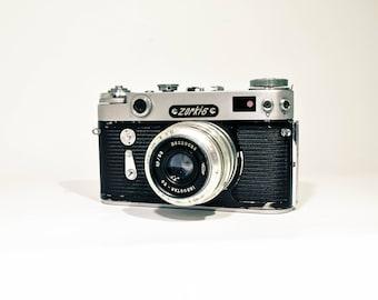 Zorki 6 Camera, Soviet Leica Copy, Camera with lens Industar 50, FREE SHIPPING