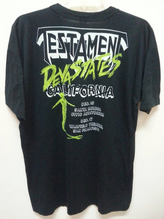 Carlifornia Usa Devastates cotton T size in Poly 1989 Shirt Tour Testament Made XL qETwBF1Z