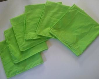 Set of Six Un-Paper Towel, reusable, washable, zero waste, eco friendly, rainbow, colors, red, orange, yellow, green, blue, purple, pink,etc