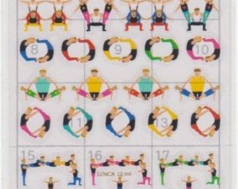 Gymnastics Schedule Stickers - Planner Stickers - Mind Wave - Reference A4455-57