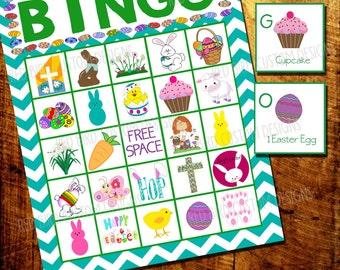 Easter Bingo - Memory Game Printable (DIY, Instant Download, School, Church, Teacher, Easter, Party)