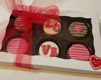 Mothers Day,Valentine Chocolate Covered Oreos,