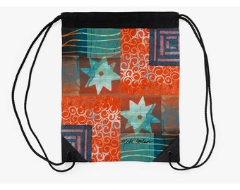 Cinch Bag,Drawstring Backpack,Market Bag,Supplies for Back to School,Christmas Gifts for Artists,College Student Christmas Gift