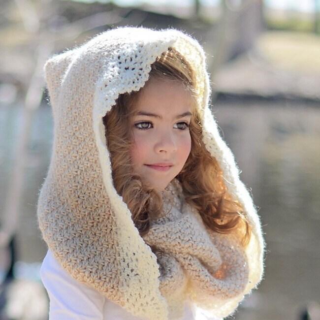 Crochet Hooded Scarf Pattern Crochet Infinity Scarf Hooded