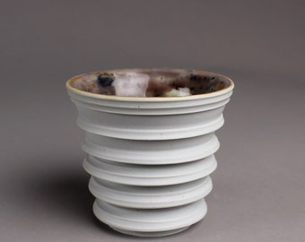 Porcelain Cup Inspired by Books and Time